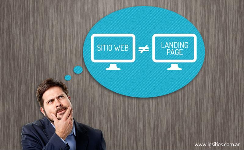 diferencias entre landing page y sitio web