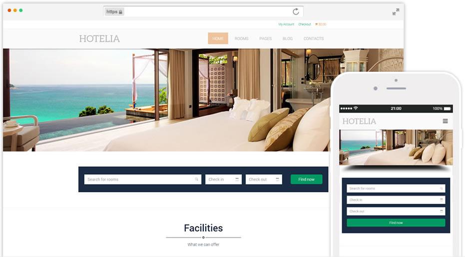 plantilla para hotel o alojamientos