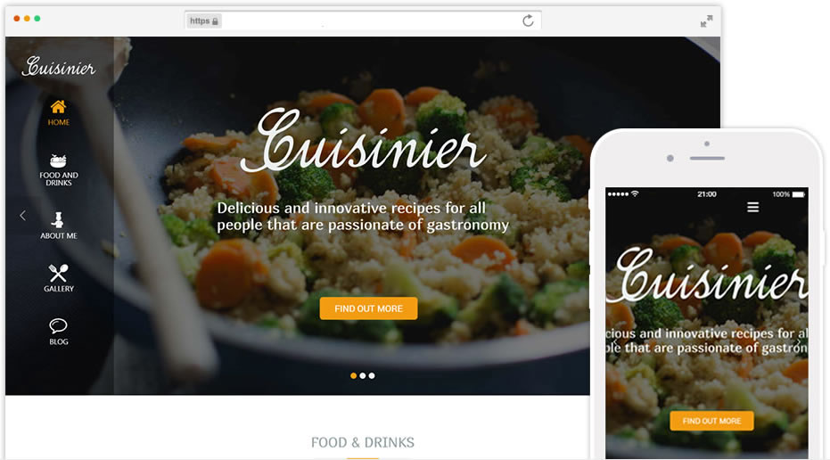 plantilla para recetas online
