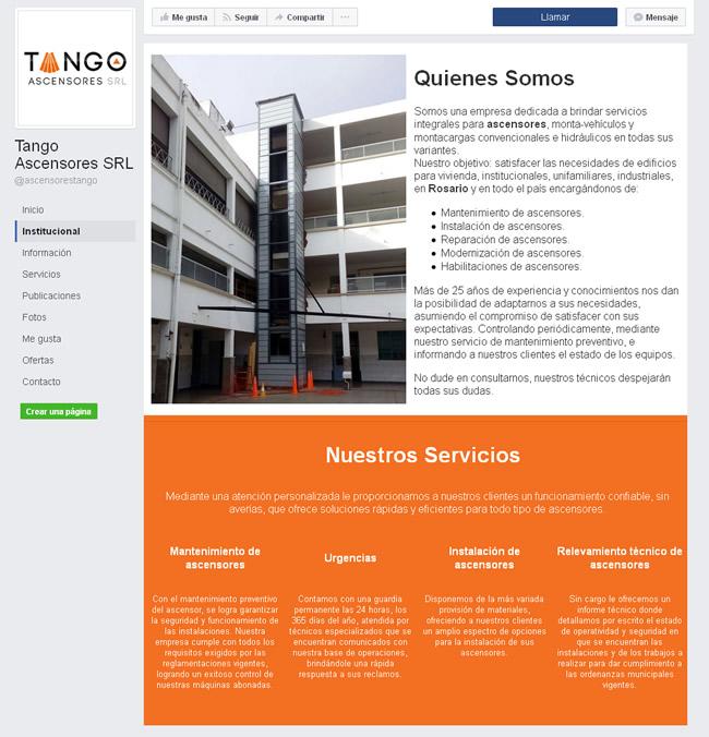 Fan Page Tango Ascensores
