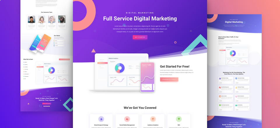 Página web para empresa de marketing