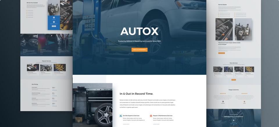 Página web para taller mecánico/servicios para el automotor
