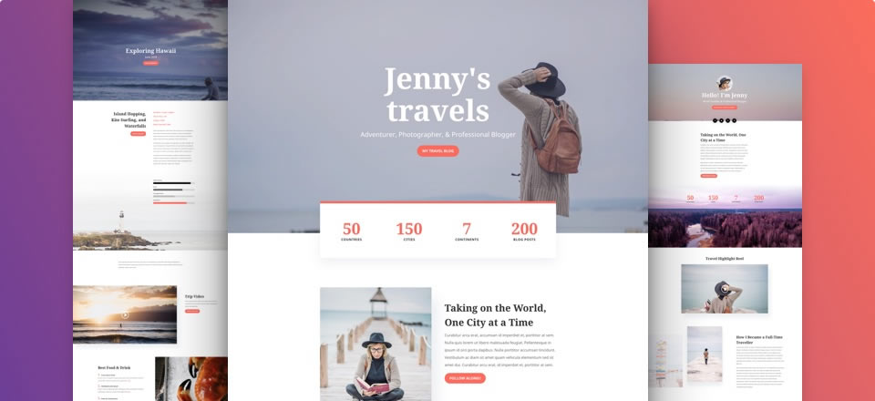 Página web para blog de viajes