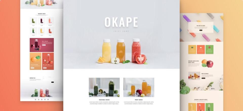 Página web para tienda online de alimentos