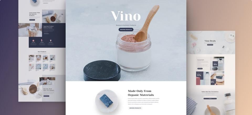 Página web para tienda online de cosmética