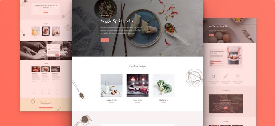 Página web para blog de recetas