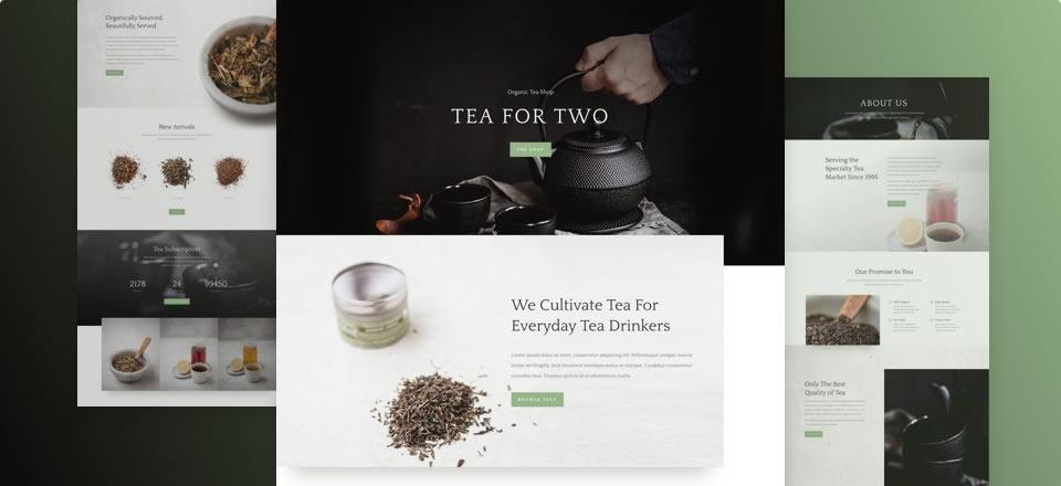 Página web para casa de té con tienda online