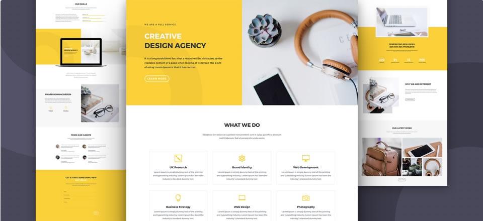 Página web para agencia de diseño