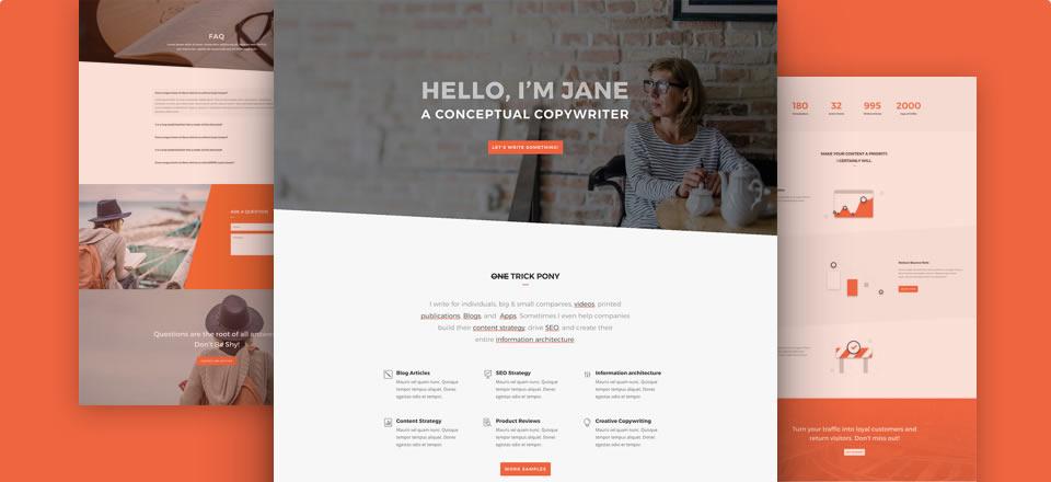 Página web para escritor/blog