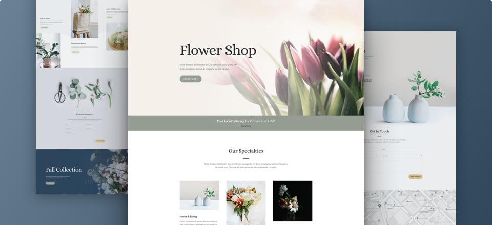Página web para florería