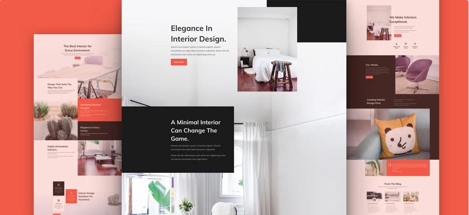 Página web para diseño de interiores