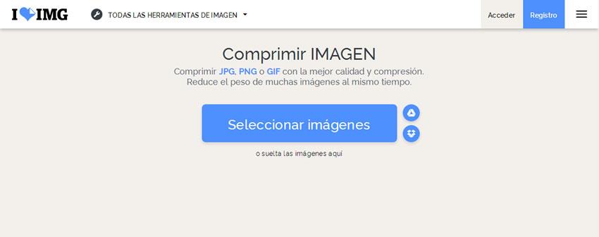 Comprimir imagenes online para mi página web