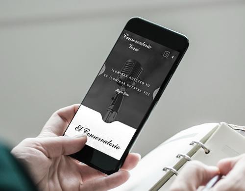Sitio web Conservatorio Verri