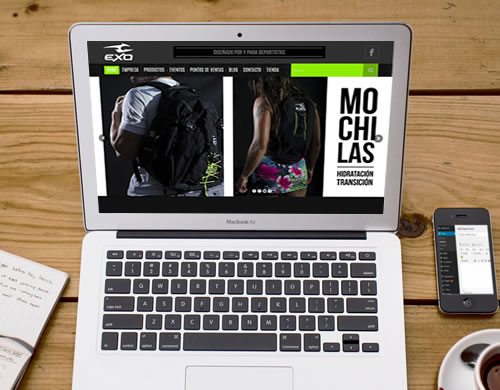 Sitio web Exo Pro