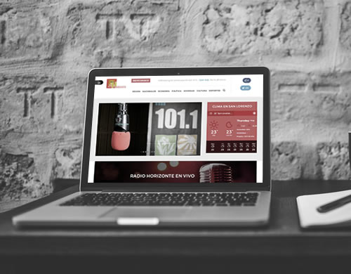 Sitio web Radio Horizonte