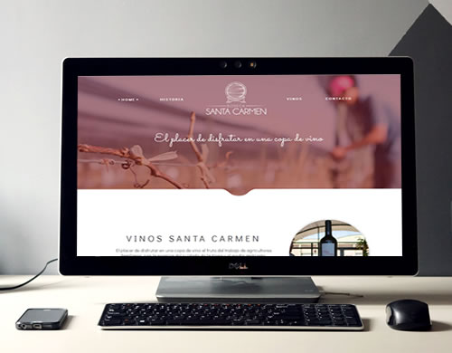 Sitio web Bodega Santa carmen