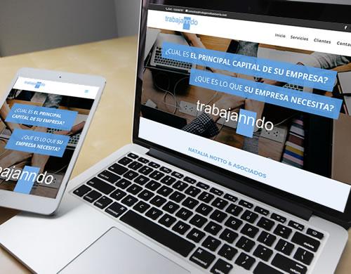 Sitio web Trabajanndo Asesoría