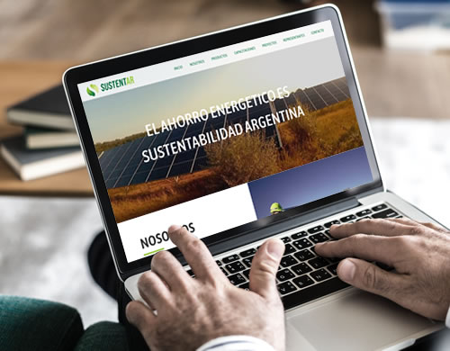 Sitio web Sustentar Energías
