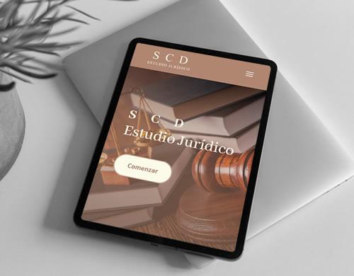Sitio web Estudio Jurídico SCD