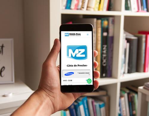 Sitio web Mobile Zone