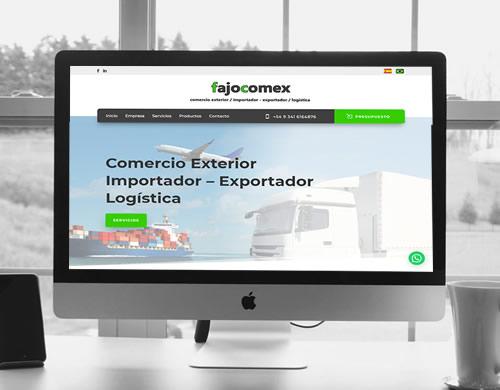 Sitio web Fajocomex