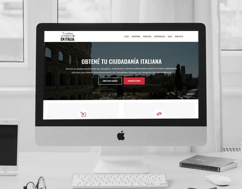 Sitio web Tu Ciudadanía en Italia