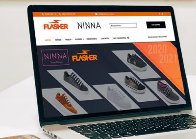 Sitio web Flasher