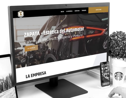 Sitio web Talleres Zapata