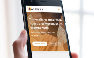 Sitio web Talents