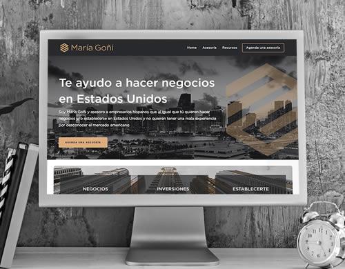 Sitio web María Goñi